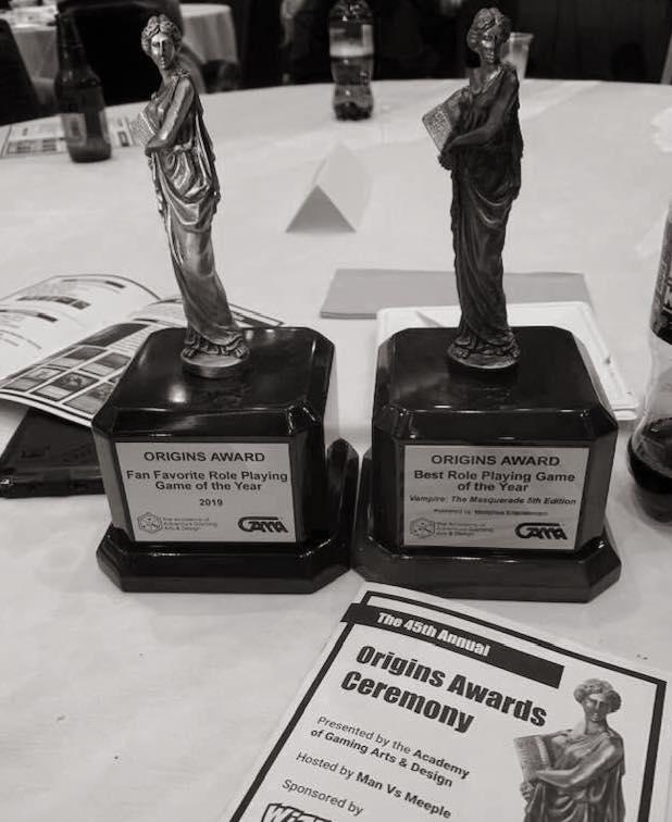 Origin Award – Vampire: Die Maskerade 5. Edition gewinnt Best RPG & FanFavorite!