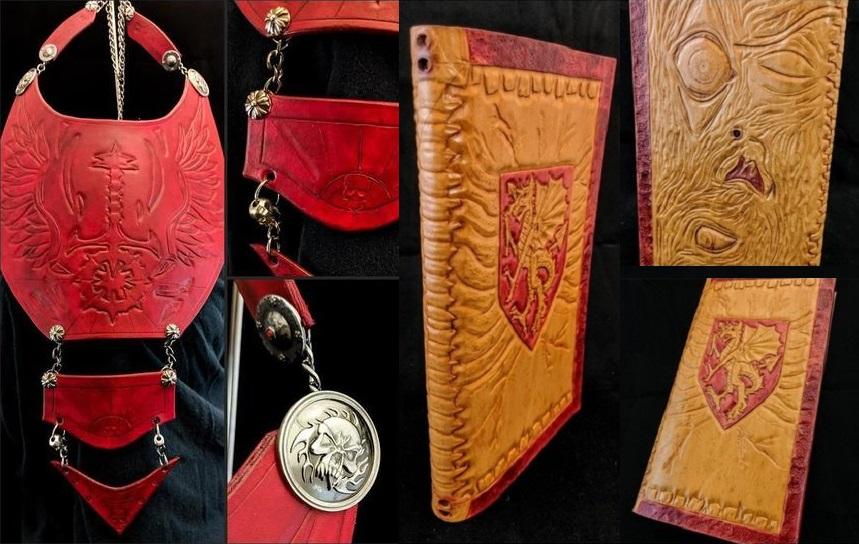 Charity-Auktion von Leder-Accessoires für Vampire (Sabbat Brustschmuck,Reisenotizbuch)
