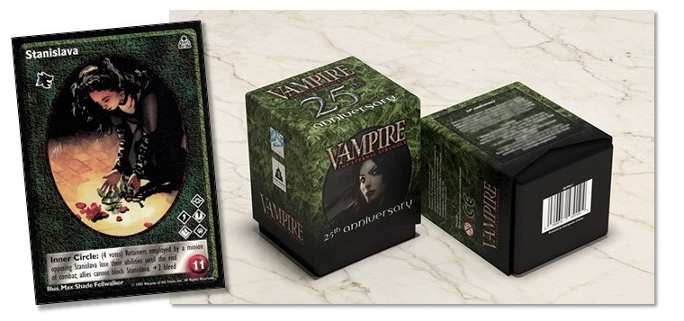 Vampire: The Eternal Struggle - 25th Anniversary Deck deaturing Stanislava