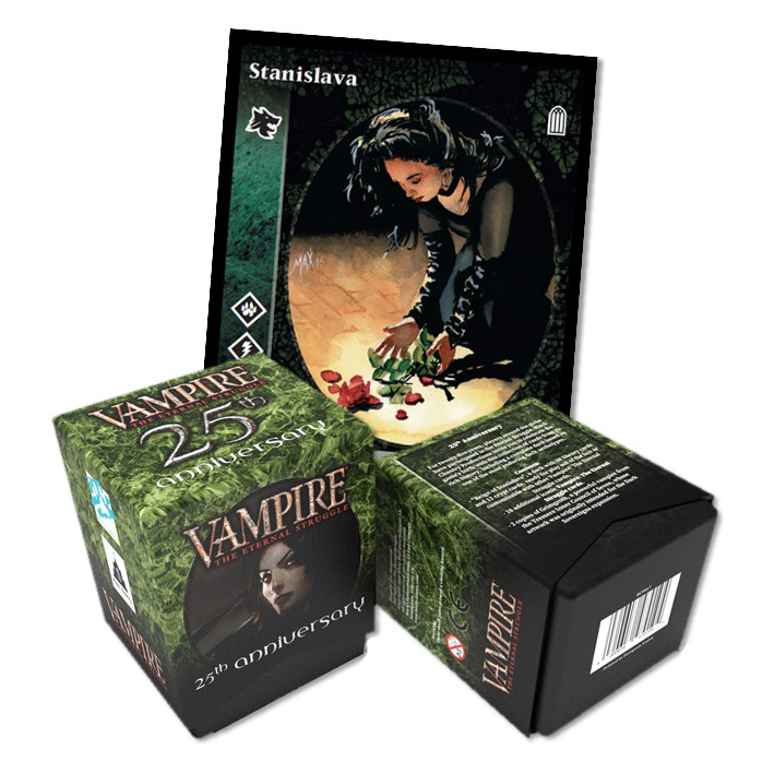 Vampire: The Eternal Struggle - 25th Anniversary Deck deaturing Stanislava 2