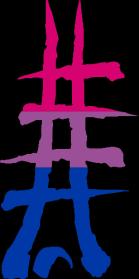 WtA Glass Walkers Stamm Symbol (Bi Pride Style)