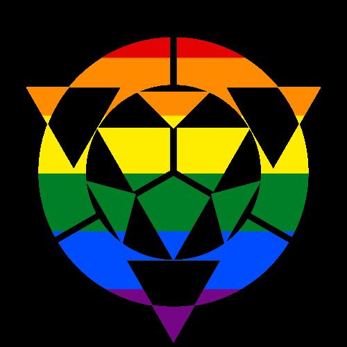 MtA Virtual Adepts Tradition Symbol (Pan Pride Style)