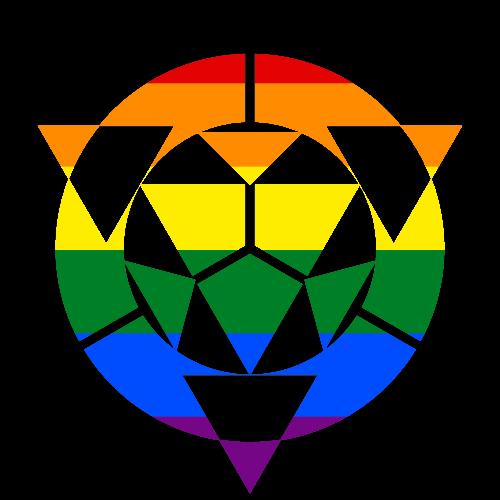 MtA Virtual Adepts Tradition Symbol (Pan Pride Style)