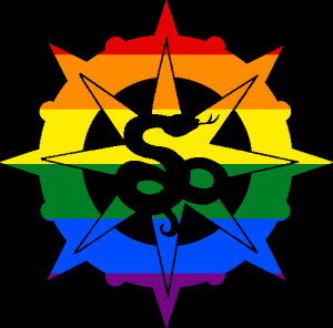 VtM Serpents of the Light Symbol (Pride Style)