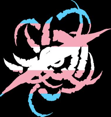 WtA Black Spiral Dancers Ronin Stamm Symbol (Trans Pride Style)