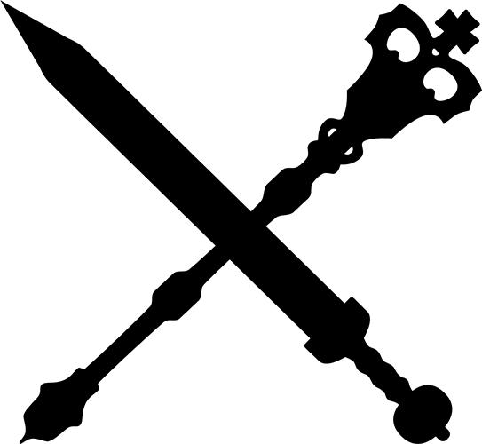 V5 Clan Symbol Ventrue auf weißen Hintergrund