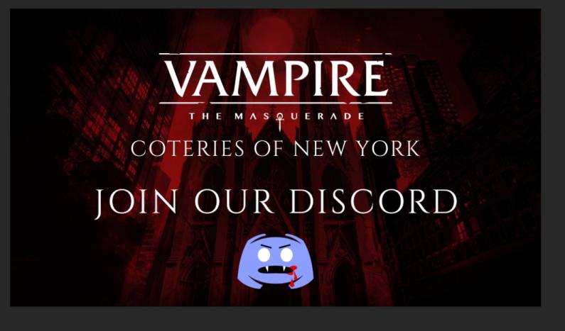 Vampire: The Masquerade - Coteries of New York - Discord Invite