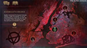 Vampire: The Masquerade - Coteries of New York - Pre-Alpha Szene: Landkarte mit einer Queste