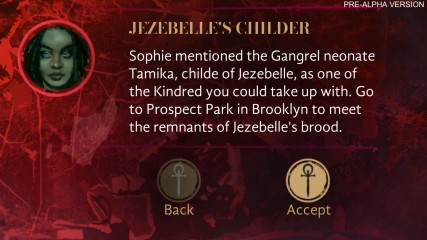 Vampire: The Masquerade - Coteries of New York - Pre-Alpha Szene: Jezebelle's Childer Queste