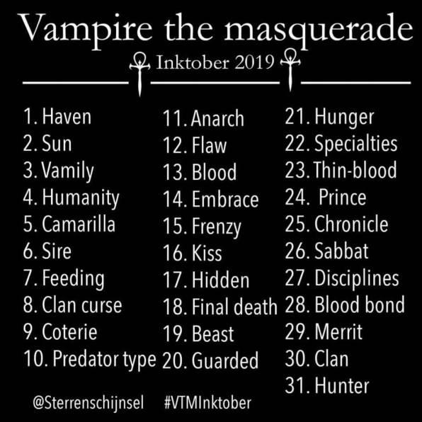 Vampire: The Masquerade - Inktober 2019 - @Sterrenschijnsel
