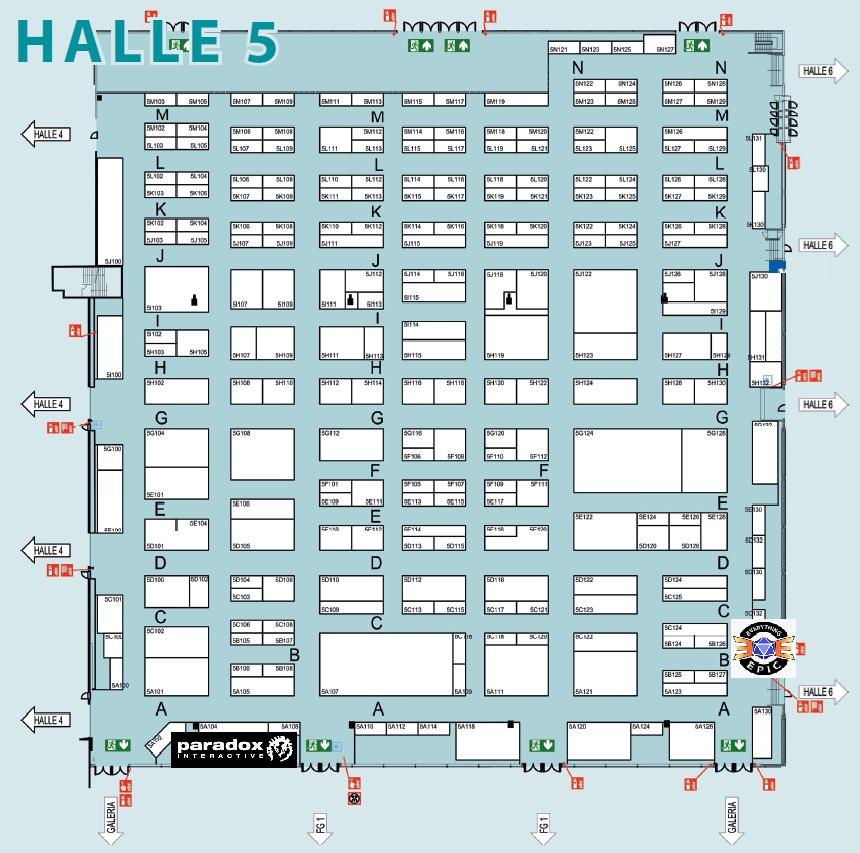 SPIEL2019 - Halle 4 - Paradox Interactive Epic Games