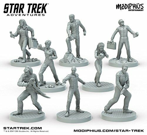 Star Trek Adventures - TNG Brückencrew - Miniaturenset von Modiphius