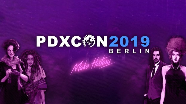 "Vampire: The Masquerade - Coteries of New York - ""Hands-On"" auf der PDXcon 2019 - Banner Graphik"