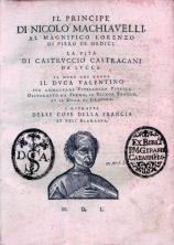 Il Principe Cover - Buchdeckel von Il Principe und La Vita di Castruccio Castracani da Lucca 1550