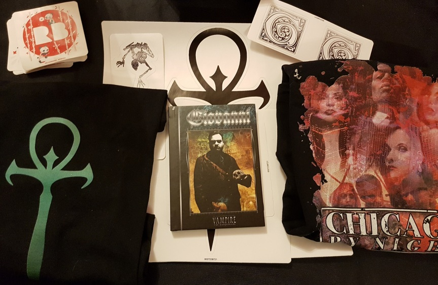 YouTube: Unboxing von Onyx Path Redbubble Stickern, T-Shirts und Notizbuch