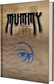 Mummy: The Curse 2nd Edition - Buch MockUp