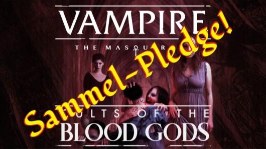 V5 Cults of the Blood Gods - Sammel Pledge Graphik (Original von Mark Kelly)