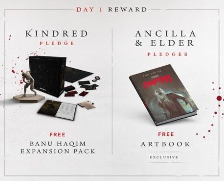 Vampire: The Masquerade Chapters - Rewards für Tag-1 Unterstützer