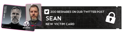 Vendetta - Hunt - Victim Card Sean