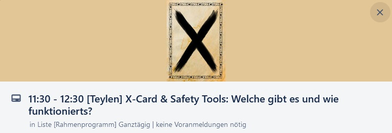 Main Würfel Convention - X-Card & Safety Tools - 11 Uhr 30 bis 12 Uhr 30