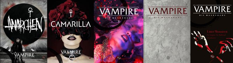 Vampire: Die Maskerade 5. Edition bei Ulisses Spiele - Vorschau auf die Bücher