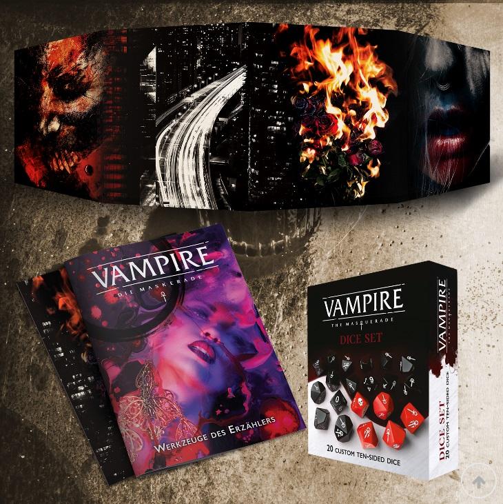 Vampire: Die Maskerade 5.te Edition - Spielleiterschirm, Werkzeuge des Erzählers, Würfel