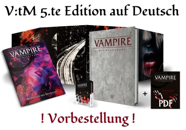 Vampire: Die Maskerade 5.te Edition - Vorbestellung bei Ulisses Spiele