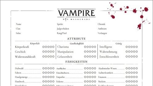 Artikel Graphik - Ausschnitt des deutschen Charakterbogen von Nerdbert