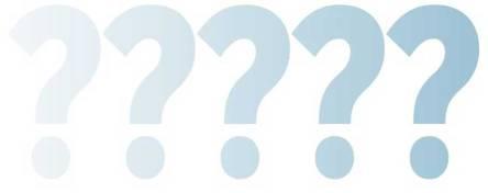 Fragezeichen - Von links (angedeutet) nach rechts (solide) solider werdend - Stockgraphik