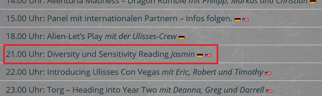 Ulisses Online Con 2020 - Diversity und Sensitivity Reading