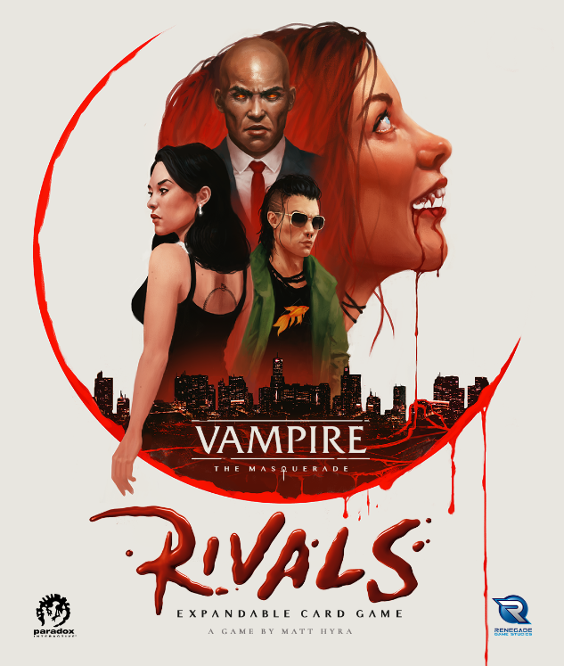 Vampire The Masquerade: Rivals - Expandable Card Game - Mockup der Frontseite der Box