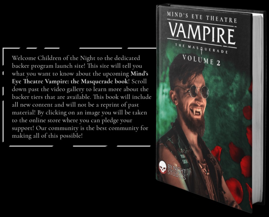 Mind's Eye Theatre - Vampire: The Masquerade - Volume 2: Blurb und MockUp