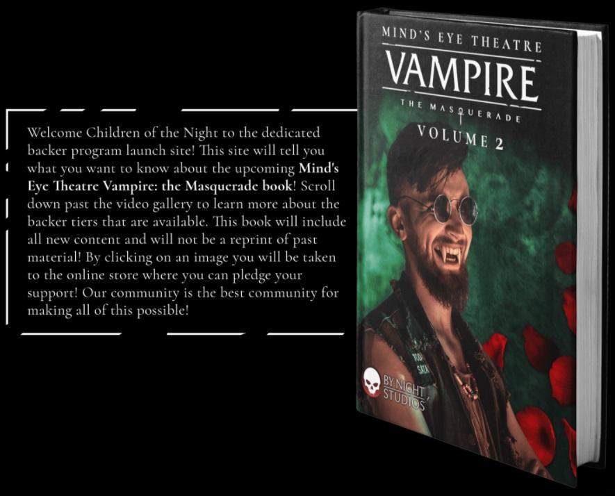 Mind's Eye Theatre - Vampire: The Masquerade - Volume 2: Blurb und MockUp