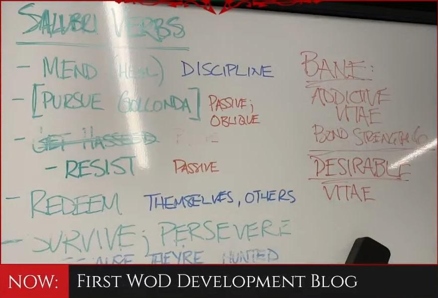 Offizielle World of Darkness News - Tafel des Development Blog