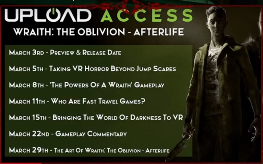 Wraith the Oblivion Afterlife - Upload Feature Übersicht