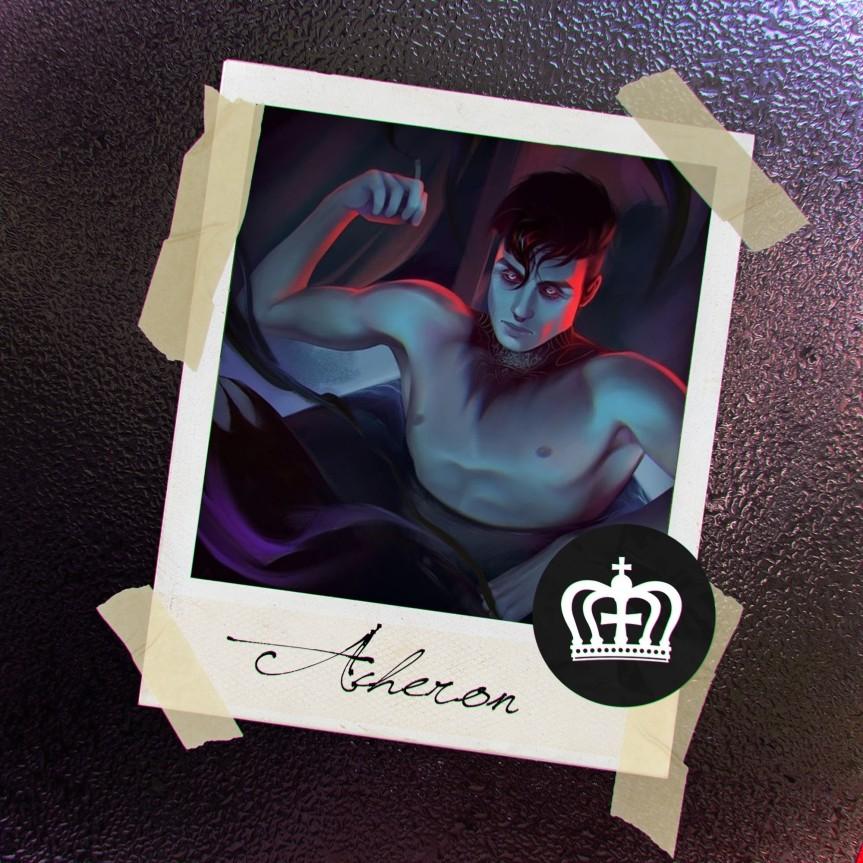 World of Darkness - Stories - 35 - Polaroid mit der Zeichnung eines Manns mit kurzen, schwarzen Haaren in einer Wanne mit schwarzen Wasser und Schatten