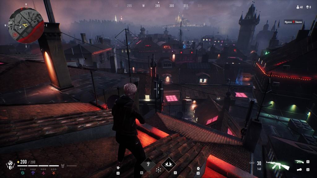 Bloodhunt - Stadt - Blick auf dem Pragerturm, über das Amüsierviertel hinweg