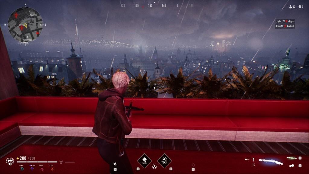 Bloodhunt - Stadt - Blick aus dem Fenster der Tribune Bar