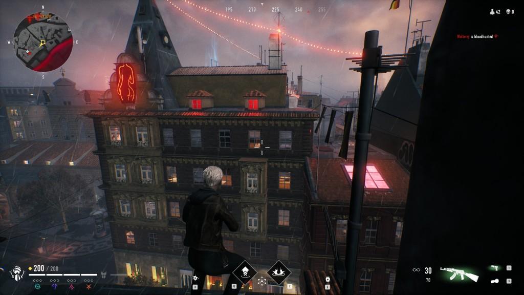 Bloodhunt - Stadt - Blick auf das Rotlicht Viertel 2