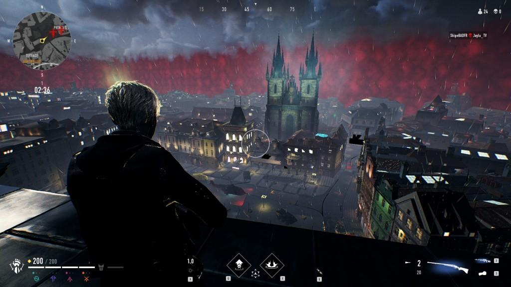 Bloodhunt - Stadt - Blick auf die Zuflucht des Prinzen, nebst berühmter Kirche