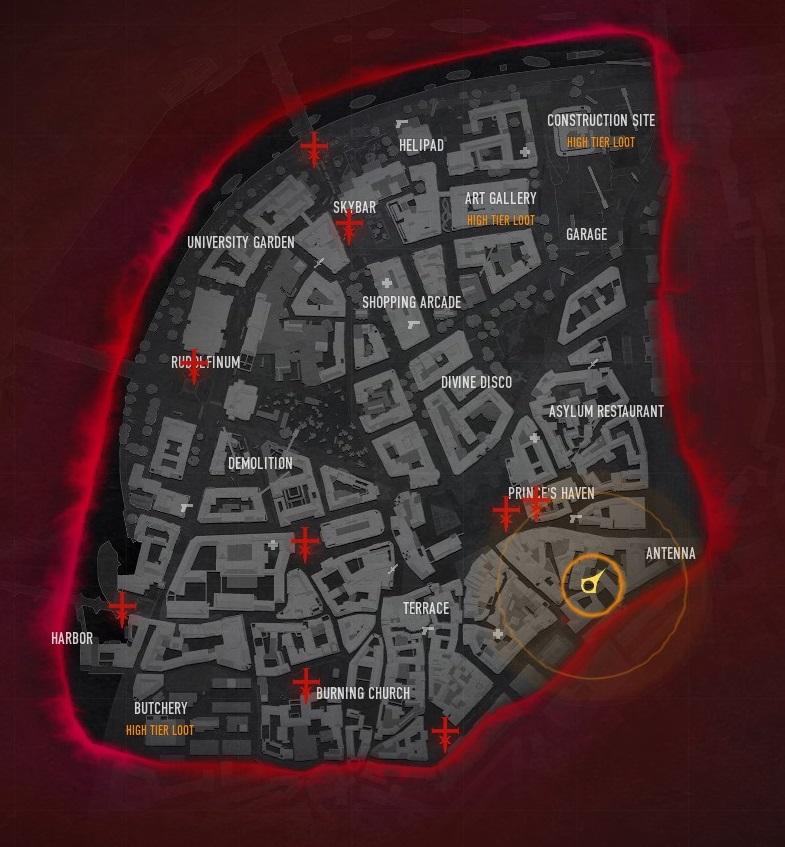 Bloodhunt - Anfangskarte der Altstadt Prags