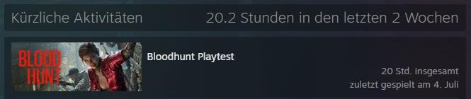 Bloodhunt - Steam Statistik