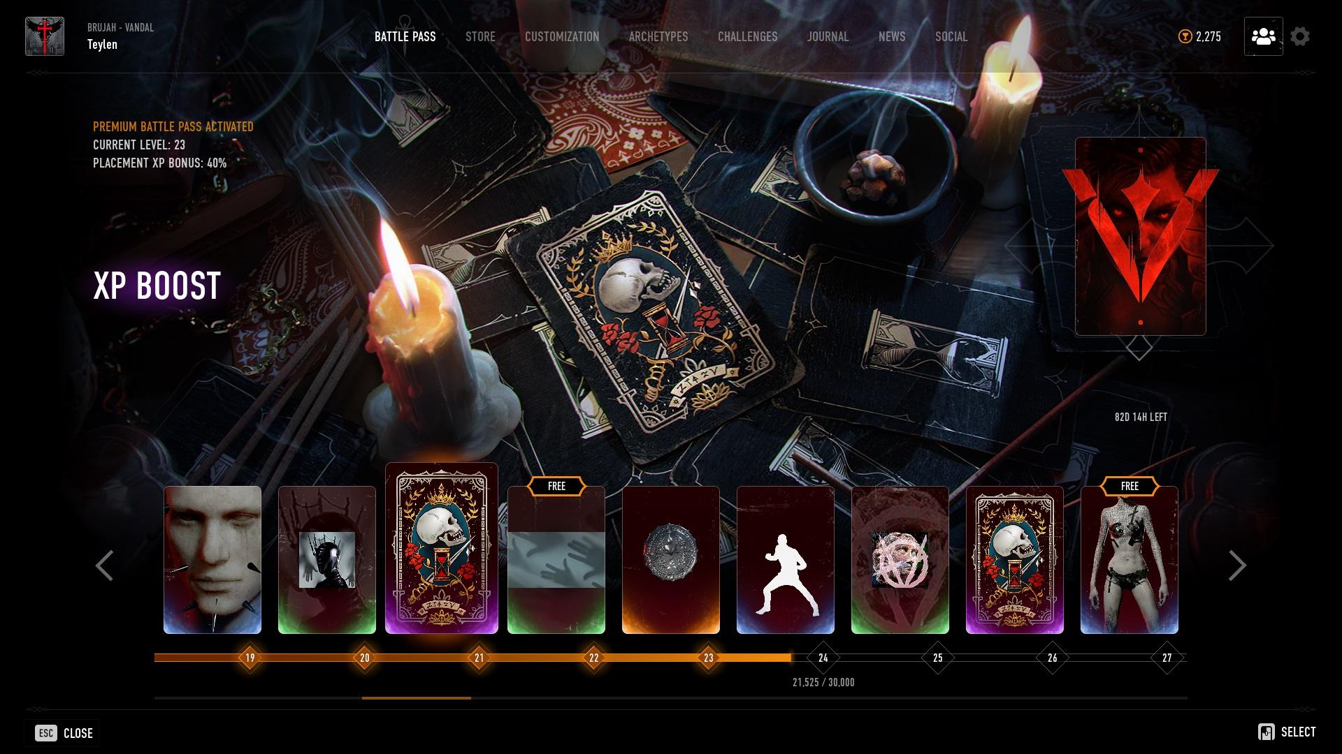 Bloodhunt - Battle Pass - (Der Battle Pass umfasst 84 Stunden und ist aktuell bei 83)