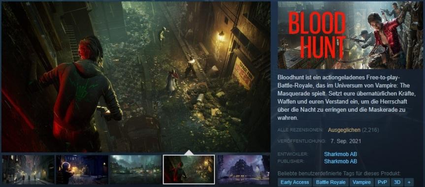 Bloodhunt: Veröffentlichung des V:tM BattleRoyal